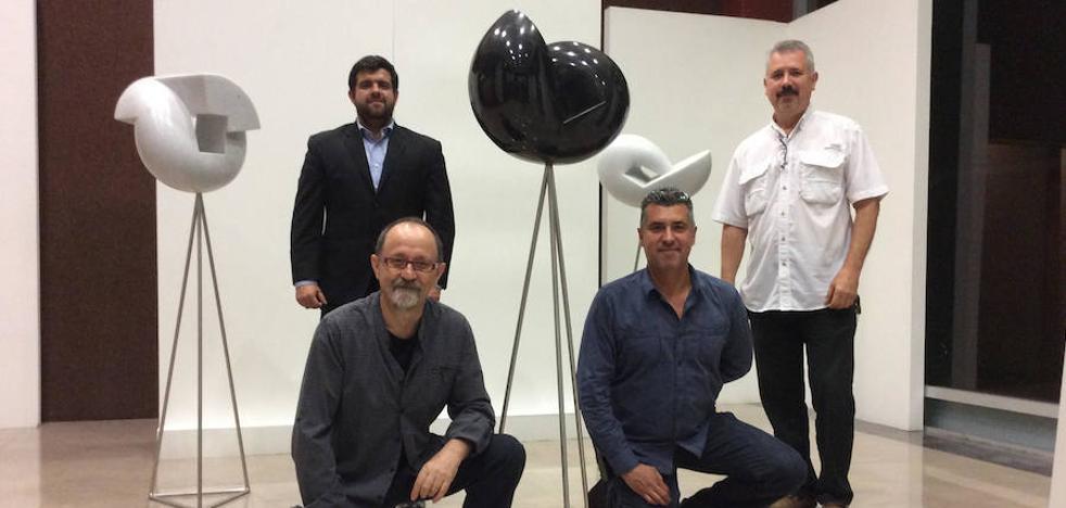 El escultor arboleano, Luis Ramos exhibe su trabajo en México