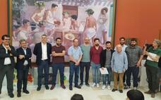 Antonio Barahona, Antonio Lara e Ignacio Estudillo, los tres mejores pintores este año en Olula del Río