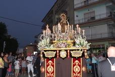 Fervorosa procesión de la Virgen del Carmen por La Lagunilla y sus aledaños