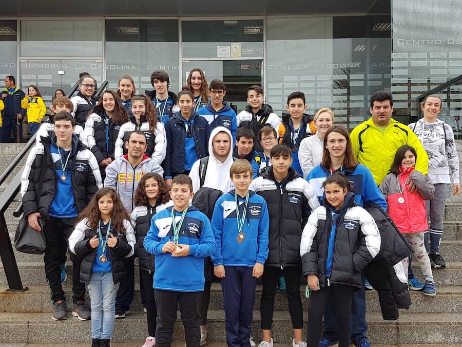 El Club Natación Andújar consigue 54 medallas en el Trofeo de Andalucía disputado en La Carolina