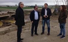 Diputación asume los gastos de limpieza en la zona de Villanueva de la Reina afectada por las lluvias