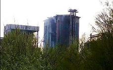 Extinguido el incendio tras la explosión en un silo de Andújar