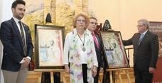 Angel Fernández pondera en el cartel de San Eufrasio su costumbrismo y religiosidad