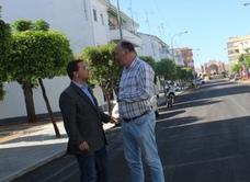 El alcalde de Andújar destaca las obras de remodelación en la Avenida Plaza de Toros