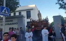 San Eufrasio procesiona por las calles de Andújar