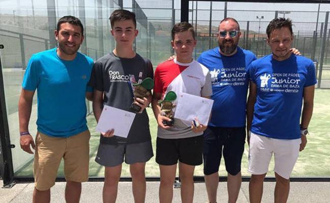 Fran Clemente y Amadeo García campeones del Open Junior Dama de Baza