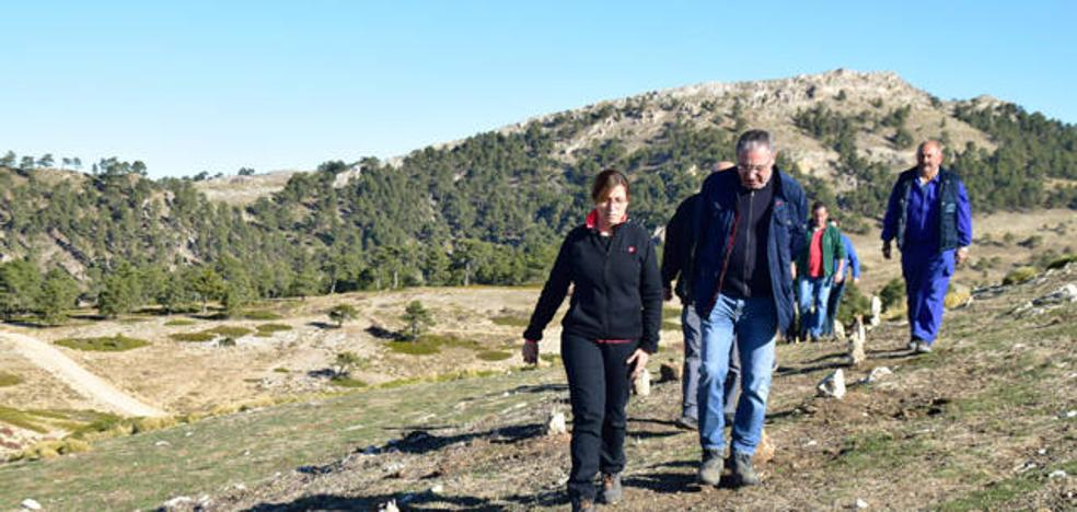Medio Ambiente construye un mirador en el mítico Peñón del Toro en Huéscar