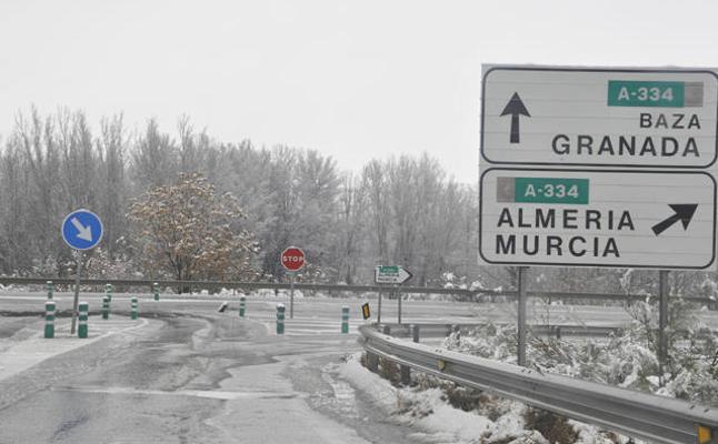 Se anuncian posibles nevadas en las comarcas de Baza y Huéscar