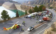 Así se actúa ante un incendio en la central hidroeléctrica del Negratín