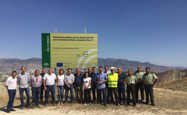 Medio Ambiente invertirá casi 500.000 en la continuidad de los trabajos de recuperación de la zona afectada por el incendio de Quesada