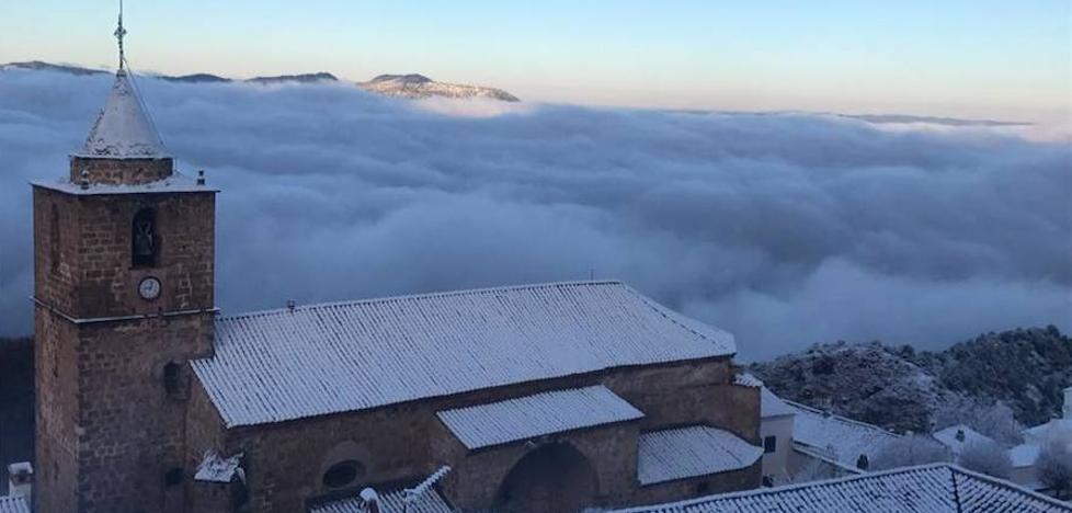 Primer nevazo del invierno en las Sierras de Cazorla y Segura