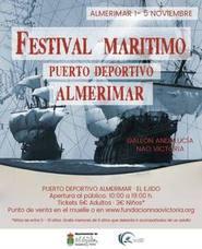 Las réplicas de la Nao Victoria y el Galeón Andalucía llegan al Puerto de Almerimar