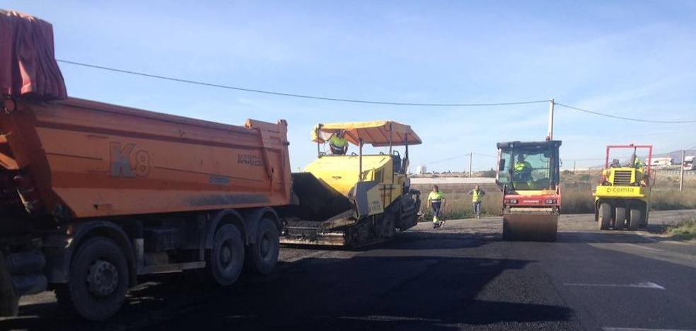 Obras junto a la A-7 en El Ejido para evitar inundaciones