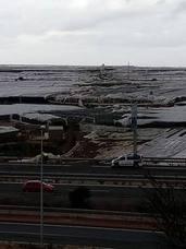 El tornado arrasa más de 150 hectáreas de invernadero