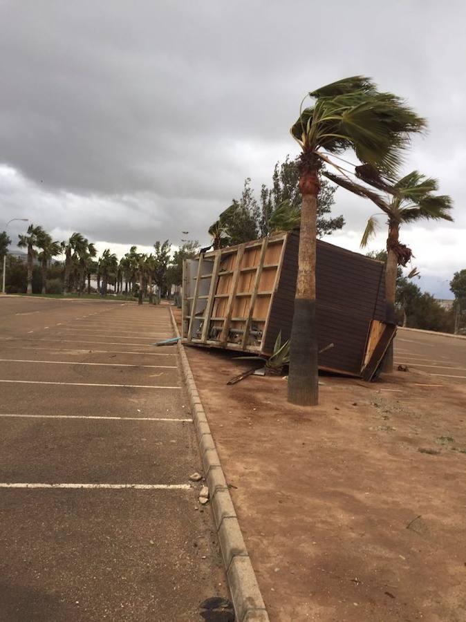 Las fotos del devastador tornado en El Ejido