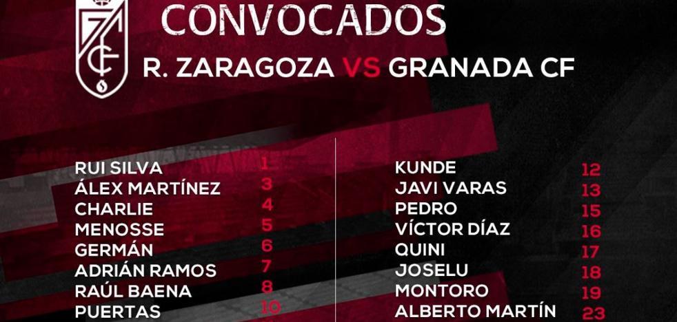 Adrián Ramos, convocado por el Granada CF para viajar a Zaragoza