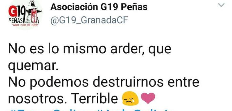 El granadinismo también se solidariza con Galicia