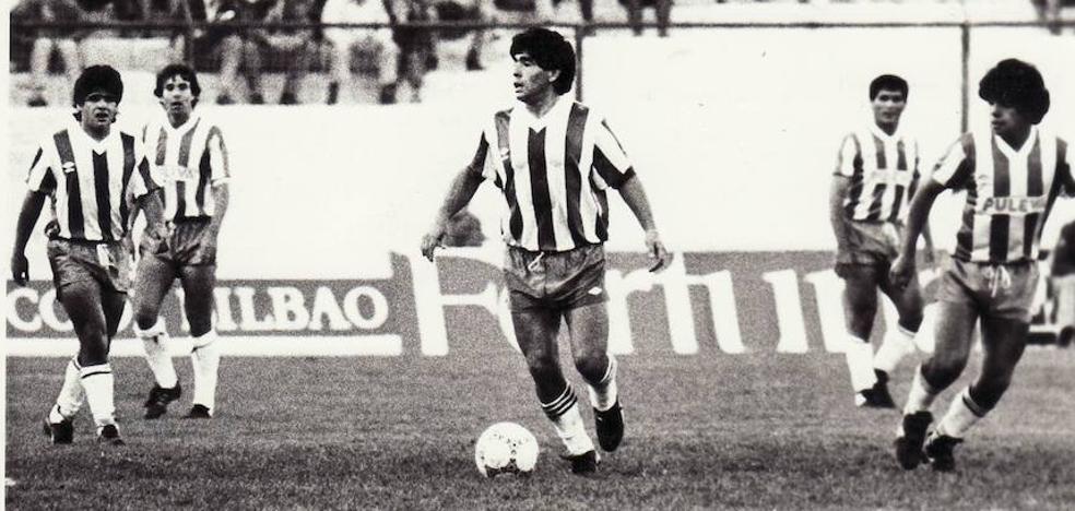 Treinta años desde que 'El Pelusa' jugó y marcó con la camiseta del Granada