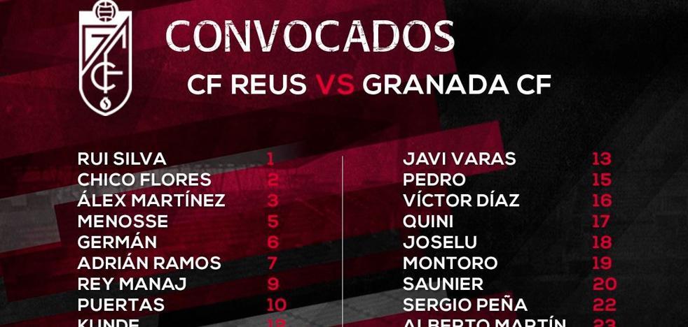 Chico Flores, Saunier, Montoro y Alberto Martín, novedades en una expedición para Reus de diecinueve jugadores