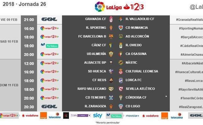 Ya hay horario para el Granada-Valladolid