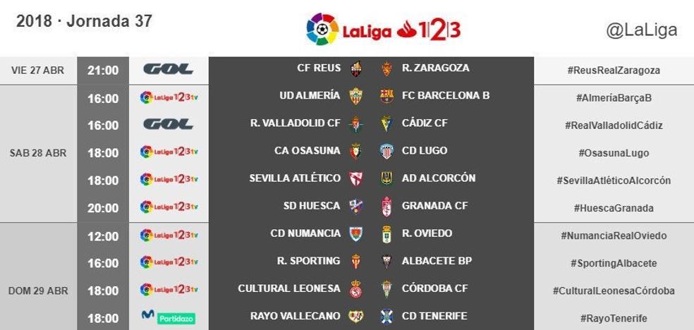 Huesca-Granada, el sábado 28 a las 20 horas