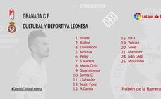 Rubén de la Barrera ya tiene a sus 18 para jugar en Granada