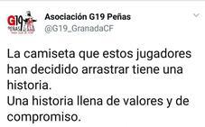 El G19 acusa a los futbolistas del Granada de «arrastrar la camiseta»