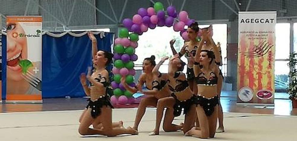 Buen papel de las accitanas de Beatriz Danzing en la II Fase Copa de España de Gimnasia Estética de Grupo