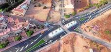 La nueva rotonda de Los Gallardos mejora la seguridad y da acceso al futuro bulevar