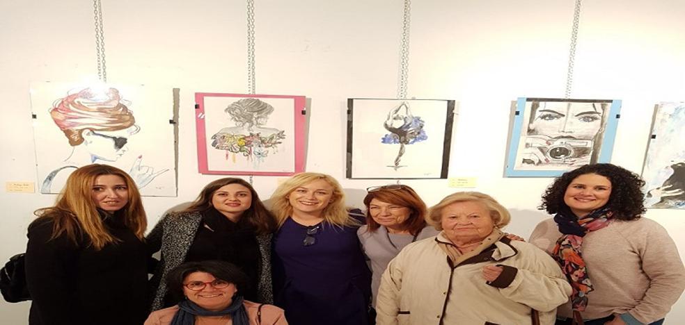 Mojácar acoge la exposición de la Agrupación de Amigos de la Pintura de Garrucha