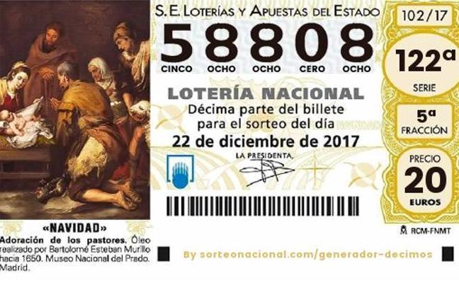 Sorteo Lotería de Navidad: un quinto premio, el 58808, ha caído en Carboneras