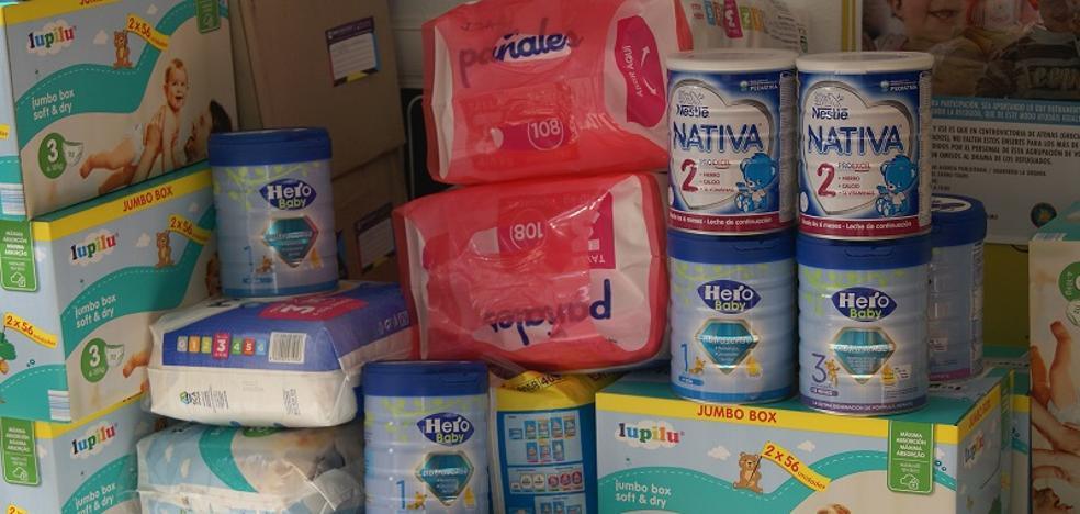 La campaña solidaria de recogida de pañales y leche entra en su recta final