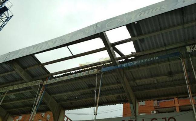 Se suspende el partido entre Linares y Malagueño por los daños del temporal