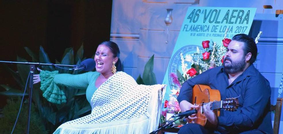 La hermosa voz de la cantaora Araceli Campillos se gana la 46 Volaera Flamenca de Loja
