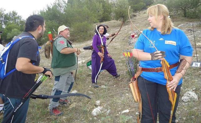 La ruta de las trincheras de Moclín, escenario de la liga andaluza de tiro con arco