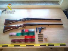 La Guardia Civil interviene dos escopetas y una pistola tras un tiroteo entre dos familias de Loja