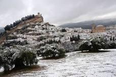 El Poniente granadino se tiñe de blanco con las nevadas de febrero