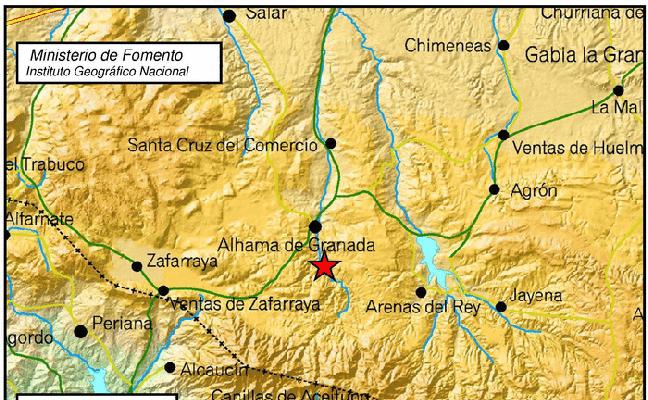 El Poniente granadino comienza la mañana con un terremoto de 3,1 grados