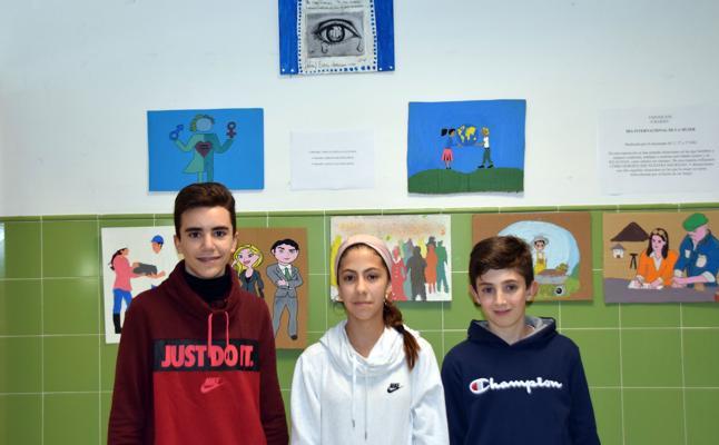 Alumnos del IES Alfaguara muestran la igualdad a través de sus pinturas