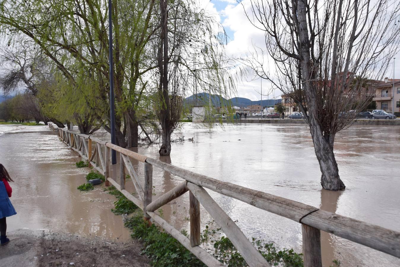 Inundación este domingo en Huétor Tájar