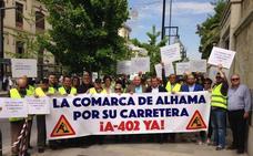 Los vecinos de Alhama reclaman a la Junta que finalice la A-402 tras doce años de incumplimientos