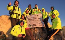Una hueteña sube al Teide con un solo pulmón