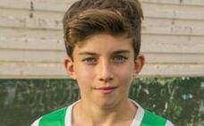 El jugador del Real Jaén alevín Iván Muñoz volverá a probar este domingo con el Real Madrid