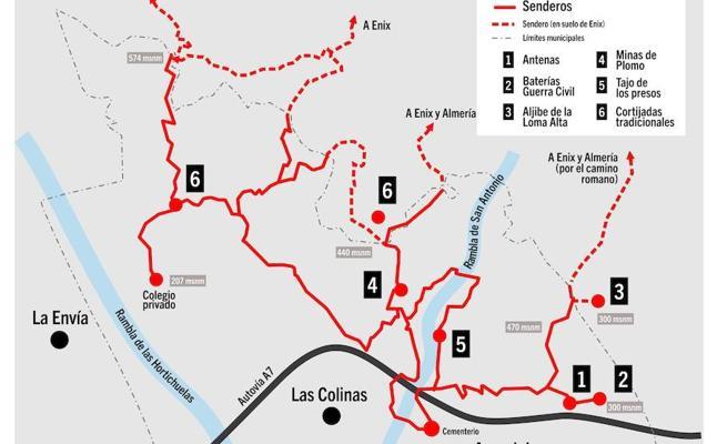 IU propone el arreglo y la puesta en valor de los senderos de la Sierra de Gádor