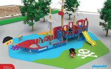 La Mojonera ultima la instalación estos días de su primer parque de Playmobil