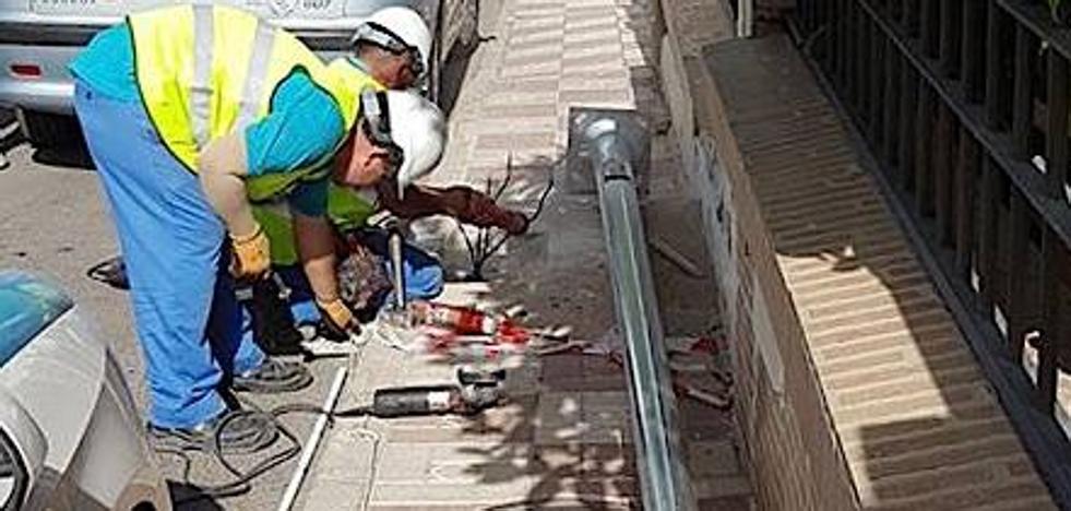 Sustitución de luminarias en el barrio del Comendador por otras más eficientes