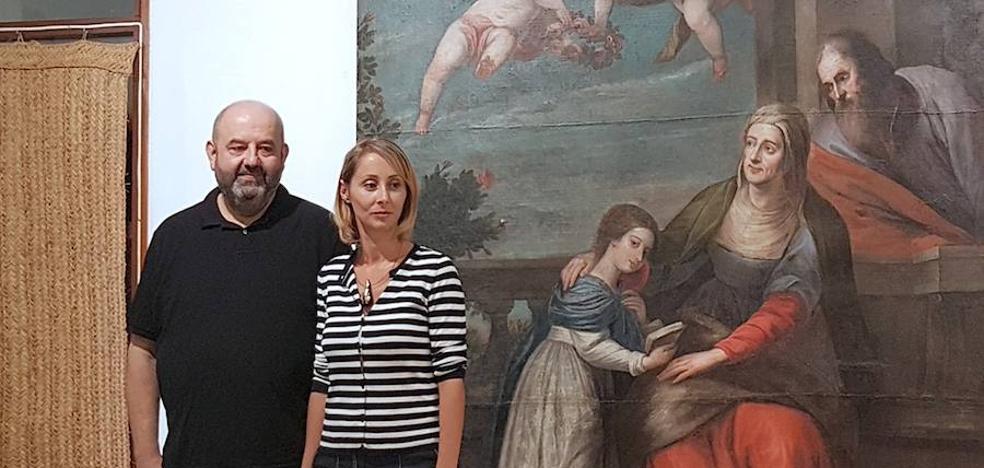 Exposición sobre el proceso de restauración de una obra del fondo pictórico municipal