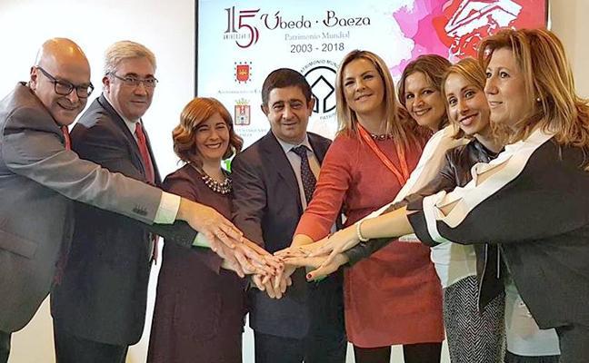 Úbeda y Baeza invitan en Fitur a celebrar su quince aniversario como Patrimonio Mundial