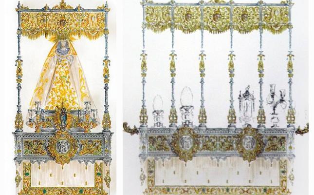 El Resucitado aprobó el diseño del nuevo paso a costal de Nuestra Señora de la Paz