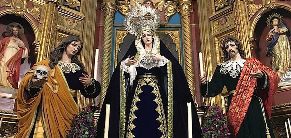 Bendecidas las dos nuevas imágenes que acompañarán a la Virgen de las Lágrimas